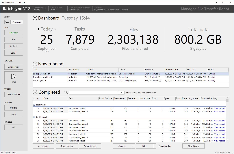 BatchSync V12 full screenshot